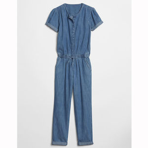 Gap Kids Factory Blue Denim Jumpsuit